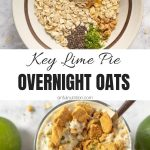Key Lime Pie Overnight Oats Collage with Text