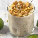 Key Lime Pie Overnight Oats with Text overlay