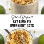 Key Lime Pie Overnight Oats Collage with Text Overlay