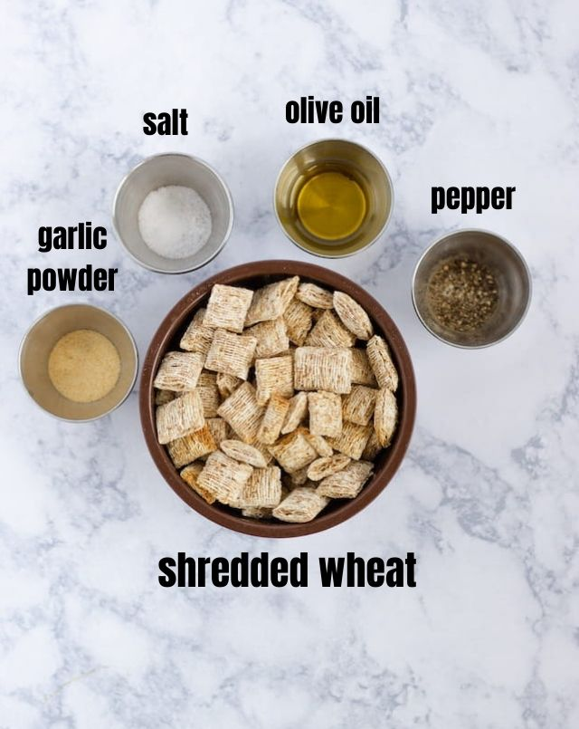 Shortcut Healthy Homemade Triscuits Ingredients with Text