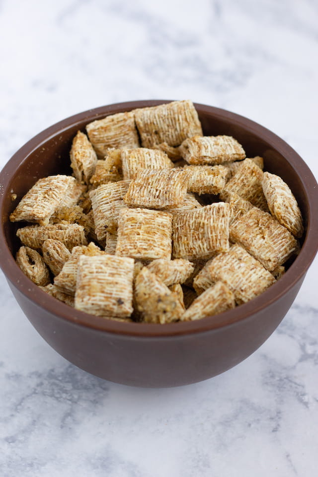 Shortcut Healthy Homemade Triscuits in Bowl