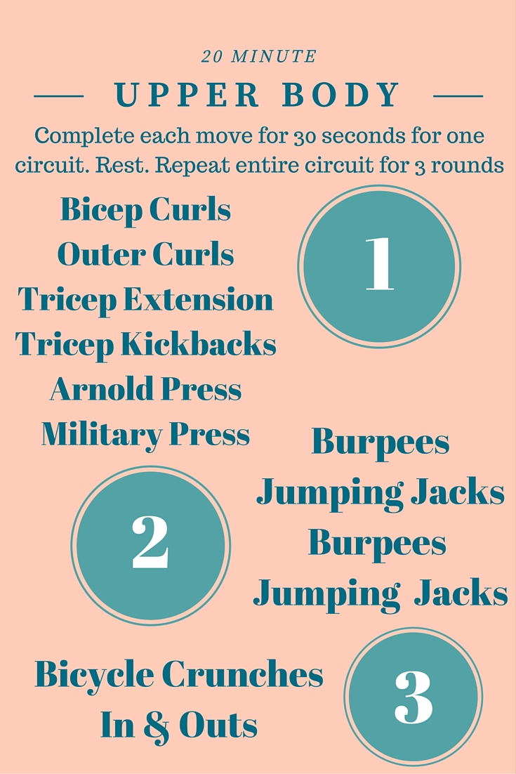 20 Minute Upper Body Workout with Weights - A super sweaty fitness routine you can do at home. No more hours spent at the gym!