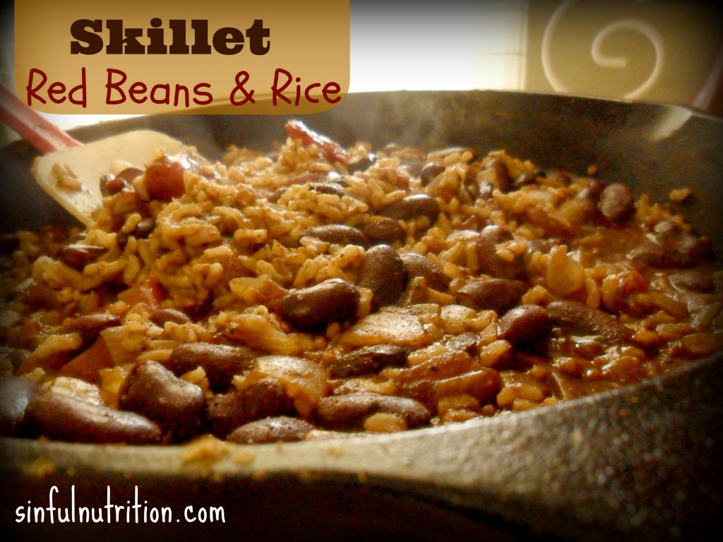 Skillet Red Beans and Rice makes a quick and easy weeknight meatless meal with a complete protein!
