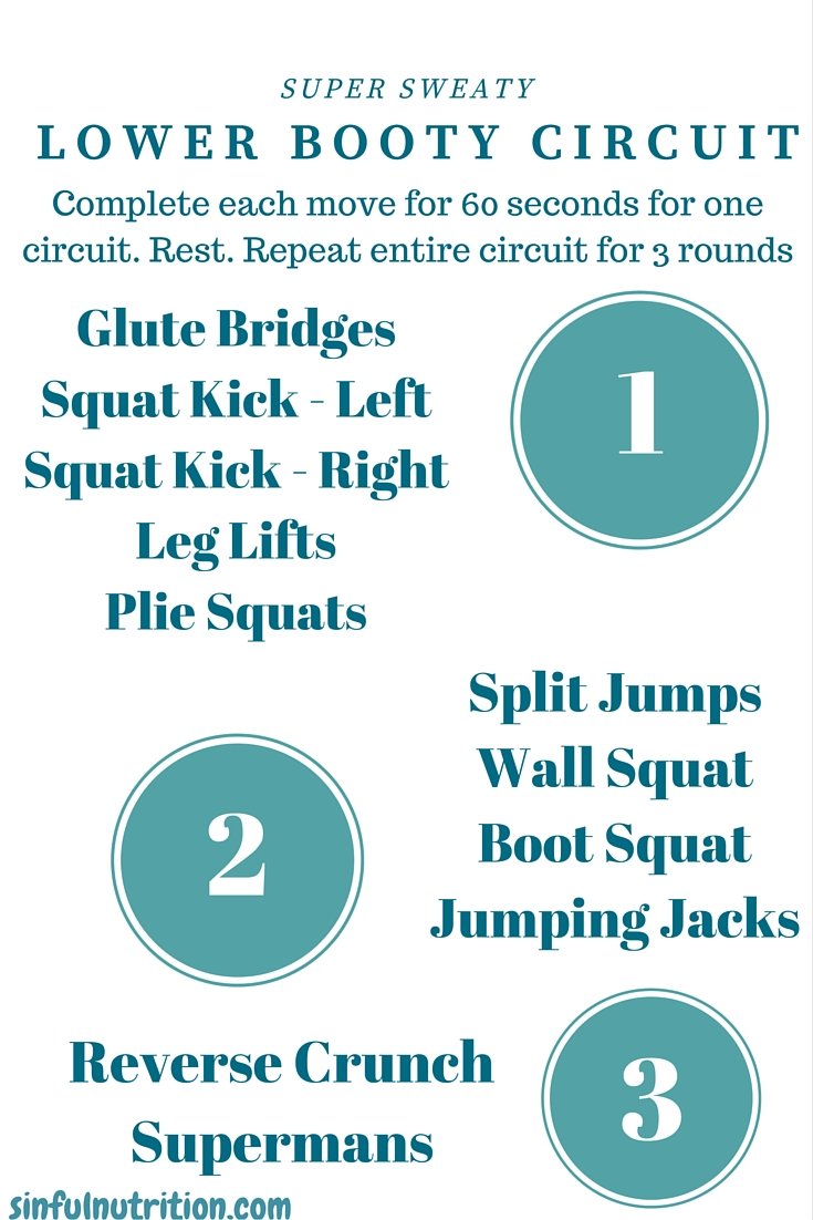 Lower Booty Circuit Workout - A Killer 30 minute fitness routine that will leave your entire lower body sore to the core!