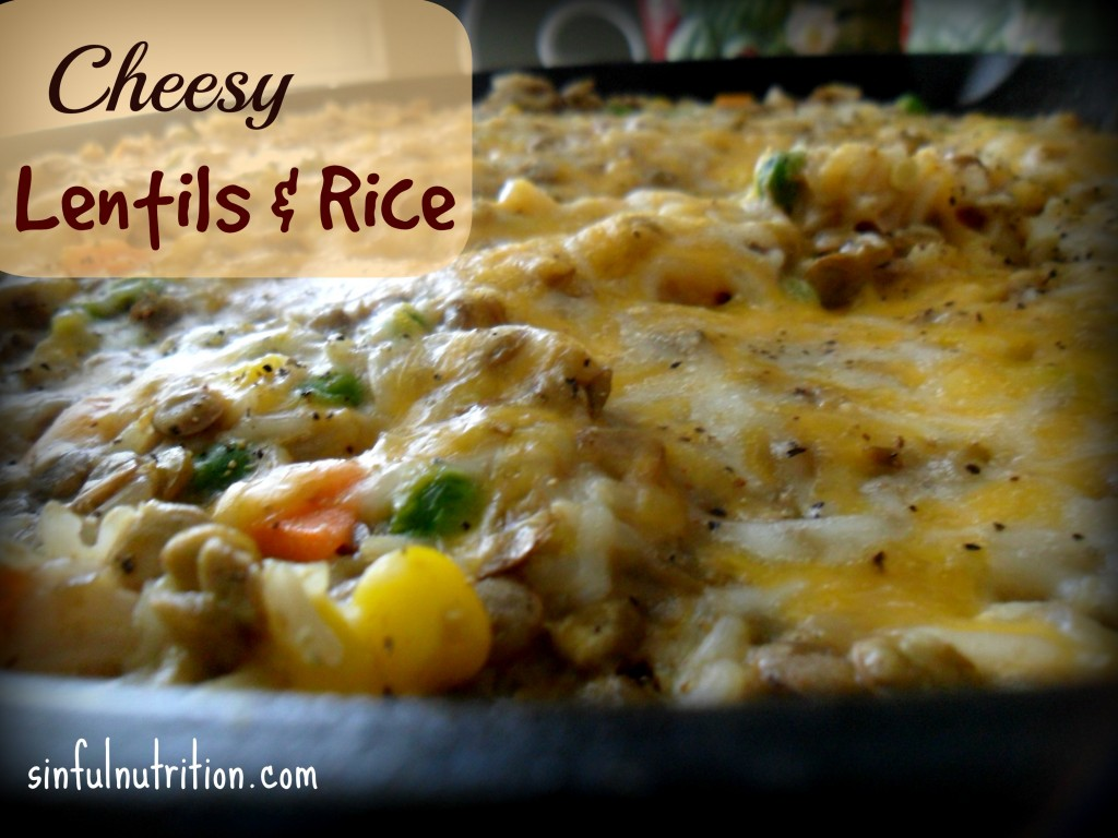 Cheesy Lentils and Rice -- A healthy vegetarian meal that is sure to satisfy plant and meat eaters alike. #glutenfree