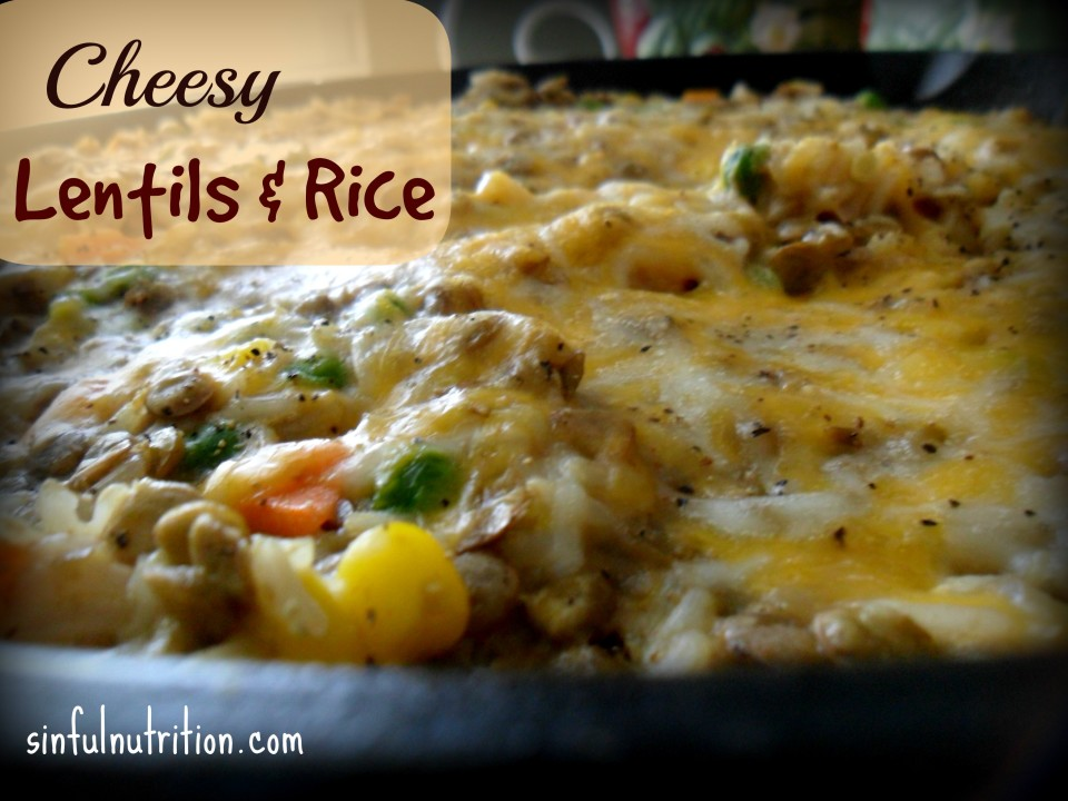 Cheesy Lentils and Rice