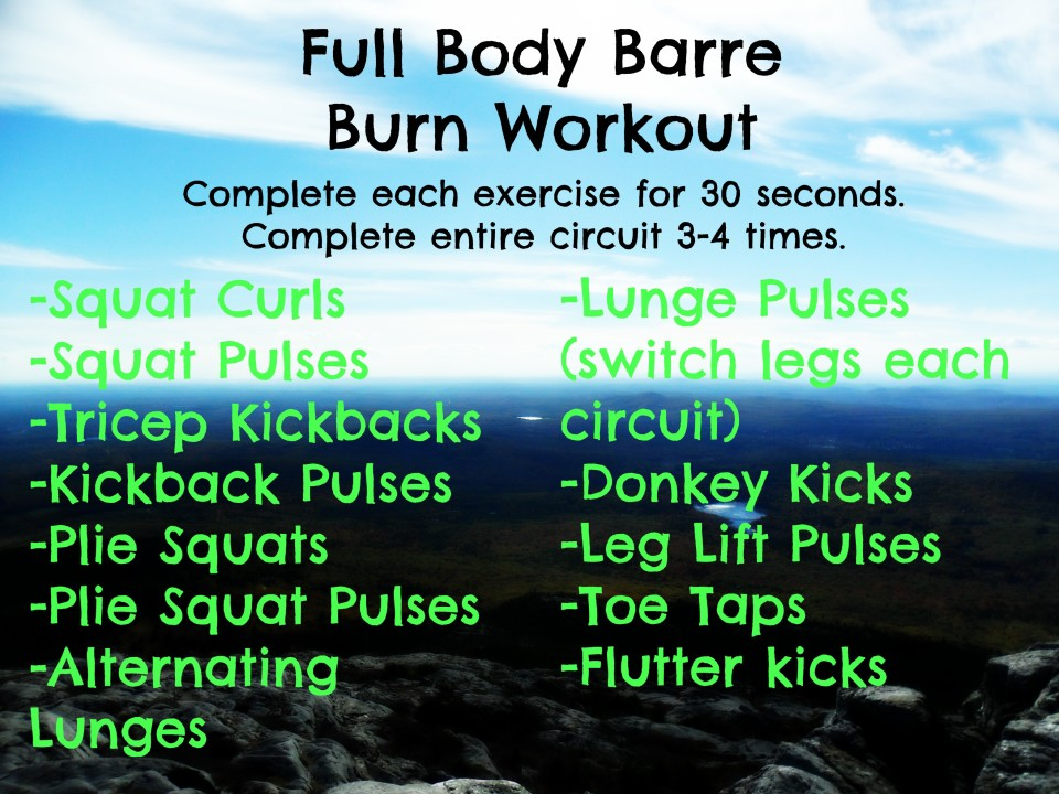 Full Body Barre Workout | sinfulnutrition.com