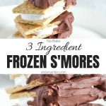 No Baked Frozen Smores Recipe Collage with Text
