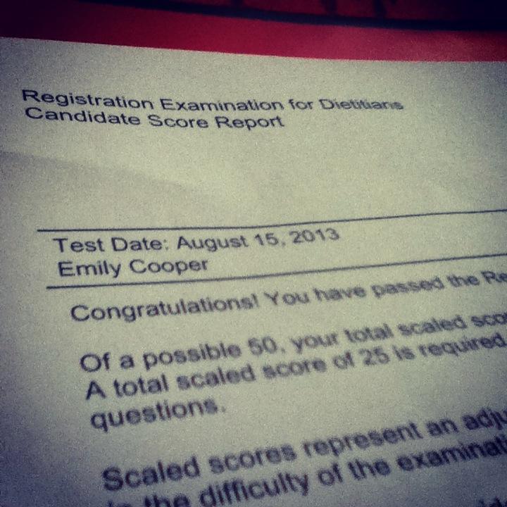 RD Exam Pass