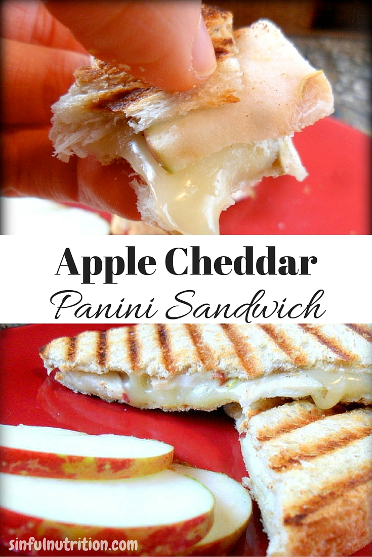 This apple cheddar panini sandwich is a fun twist on the classic grilled cheese sandwich. Perfect lunch for a Fall day!