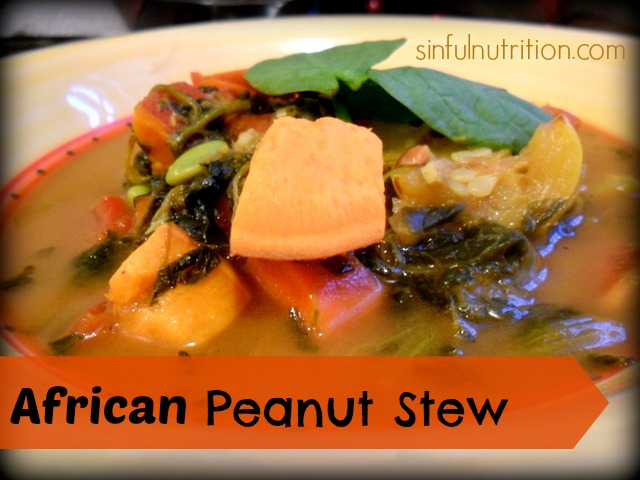 Vegetarian African Peanut Stew - Sinful Nutrition