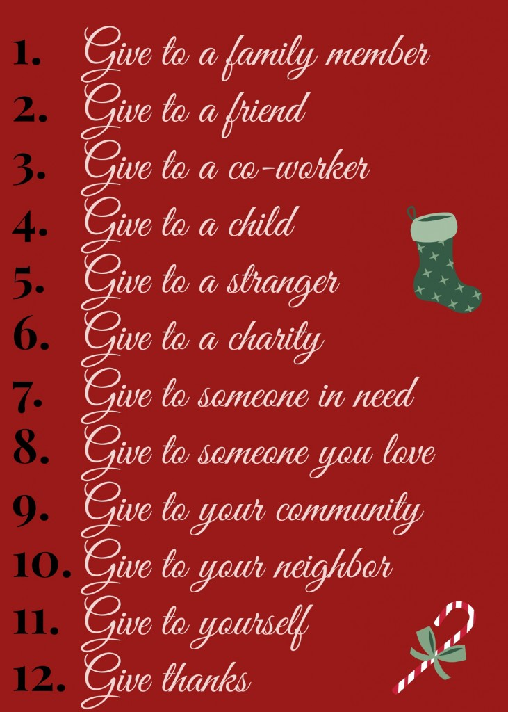 12 Days of Giving List