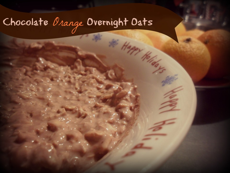 Chocolate Orange Overnight Oats - A healthy breakfast that tastes just like a Terry's Chocolate Orange!