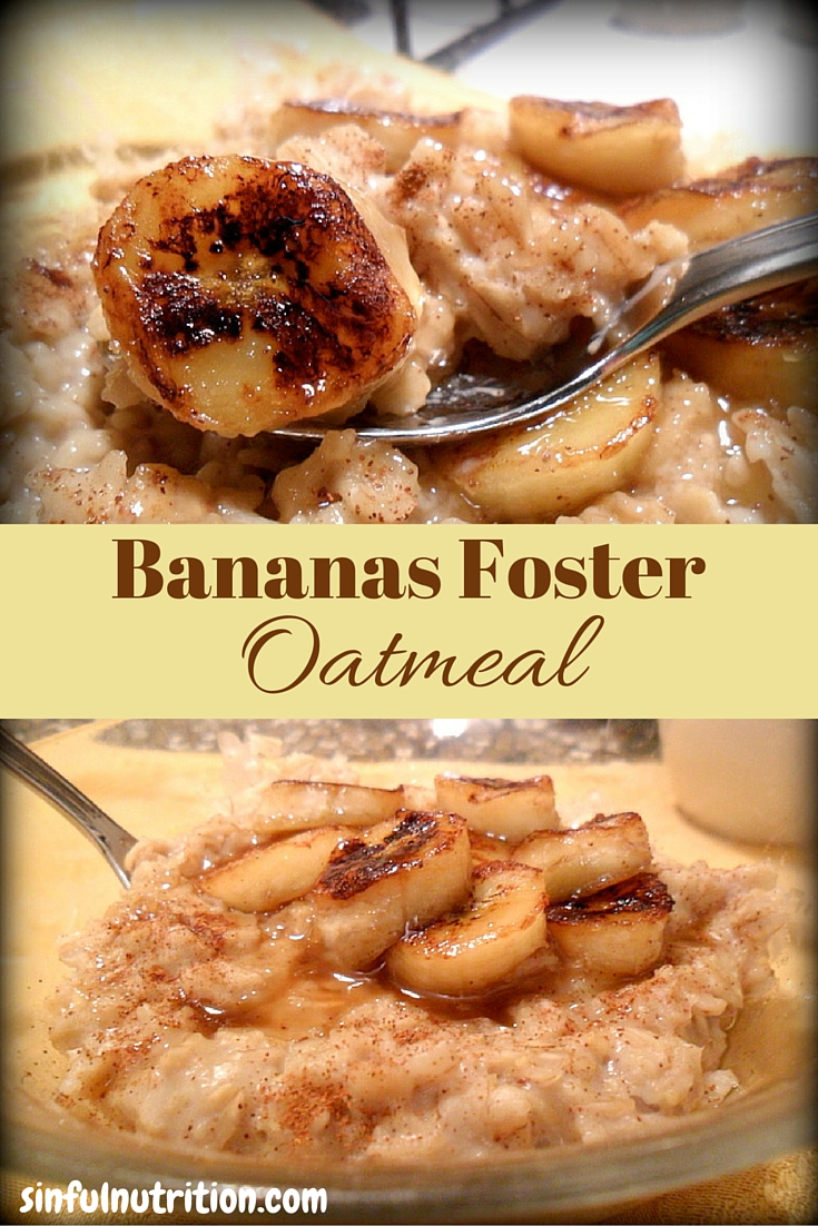 Bananas Foster Oatmeal -- It's like having dessert for breakfast! I could eat this every morning, so good thing it's a healthy recipe!