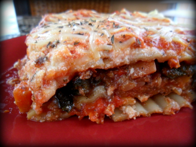 Vegan Lasagna recipe made with a tofu ricotta and LOADS of veggies. Such a healthy dinner idea!