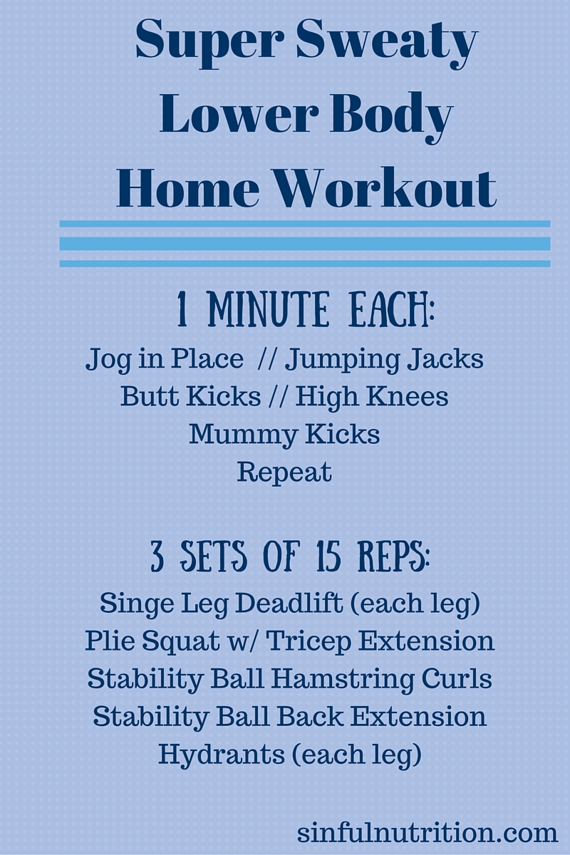 Super Sweaty Lower Body Workout at Home -- An Insanity-inspired fitness routine you can do at home in 25 minutes!