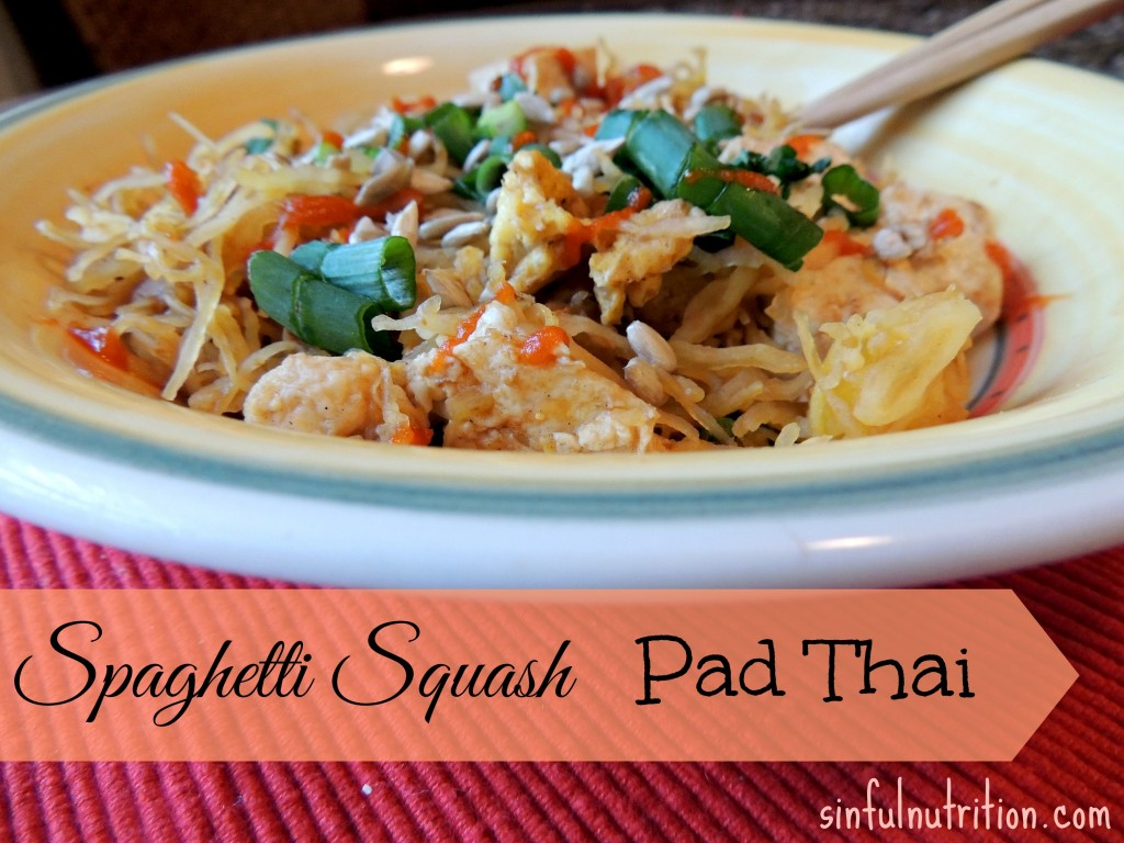 Spaghetti Squash Pad Thai - A healthy and low-carb version of a Thai classic. The sauce is so easy, and you probably have everything you need at home!