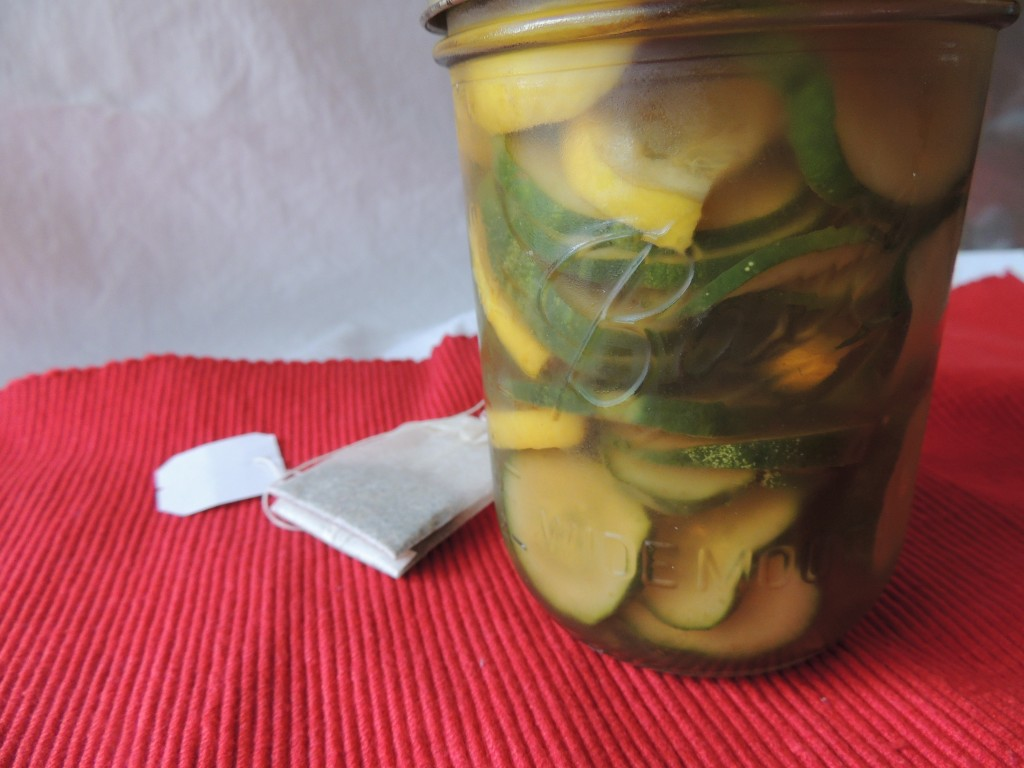 Sweet Tea Pickles - A unique recipe with the taste of Southern sweet tea flavor in every briny bite. No canning required!