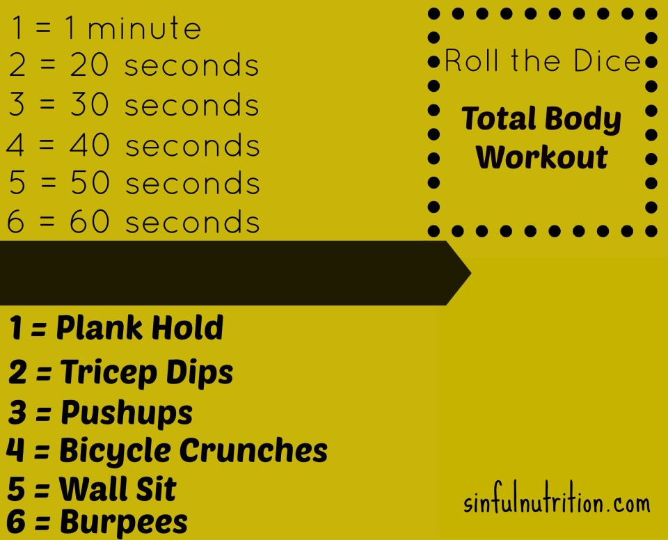 Roll the Dice Workout | sinfulnutrition.com