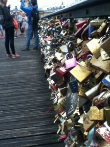 Locks of Love Bridge in France