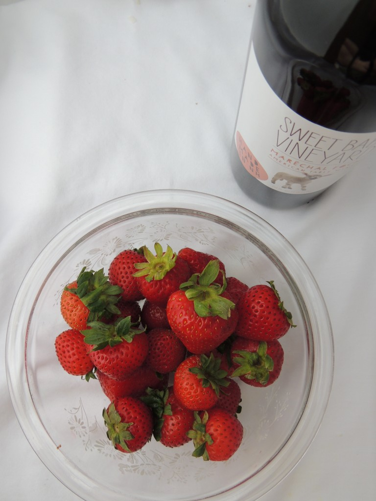 Homemade Strawberry Shortcake Recipe with Wine -- Talk about a happy hour dessert! The secret's in the sauce. Definitely making for ALL my summer parties!