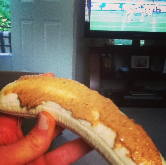 Banana with pb football