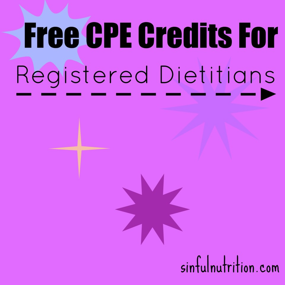 Free CPE Credits For Dietitians