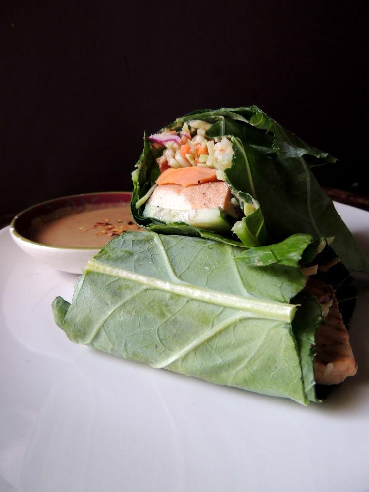 Thai Collard Green Lettuce Wrap {Giveaway}