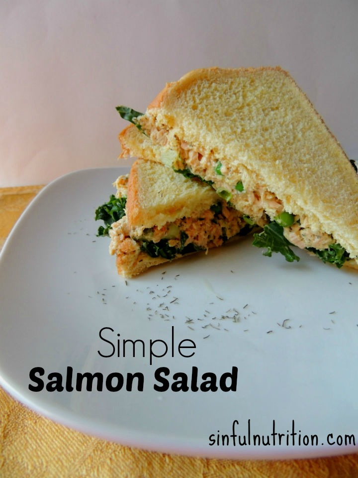 Simple Salmon Salad Recipe -- A quick and easy alternative to your usual tuna, and with so much more flavor! I make this for lunch almost every week!