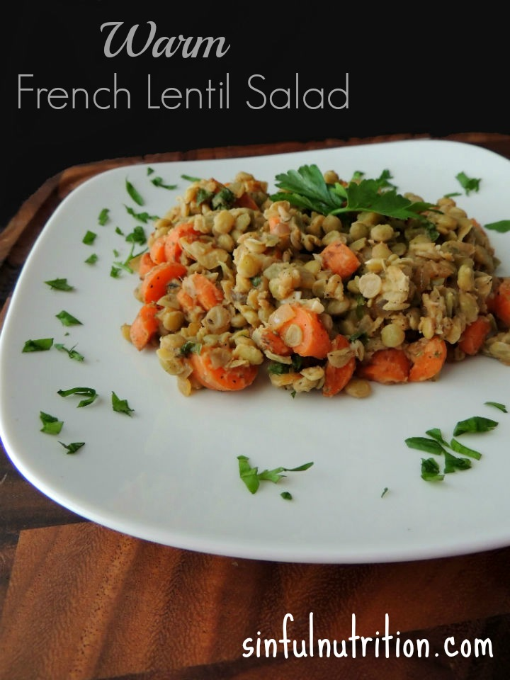warm french lentil salad author sinful nutrition recipe type salad ...