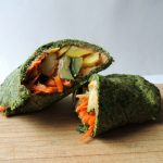 This low-carb spinach wrap recipe is both gluten-free and paleo-friendly, and only requires five simple ingredients to make! You can even make it right in the microwave!