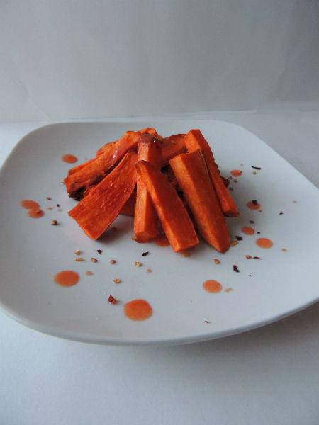Spicy Buffalo Sweet Potato Fries
