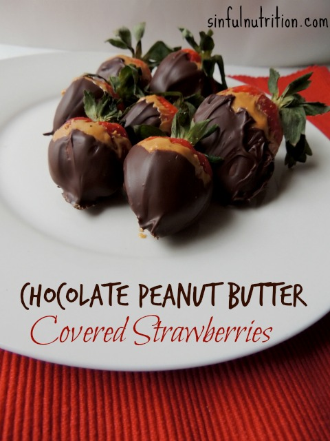Peanut Butter Chocolate Dipped Strawberries -- The perfect Valentine's Day dessert for the peanut butter lover in your life.