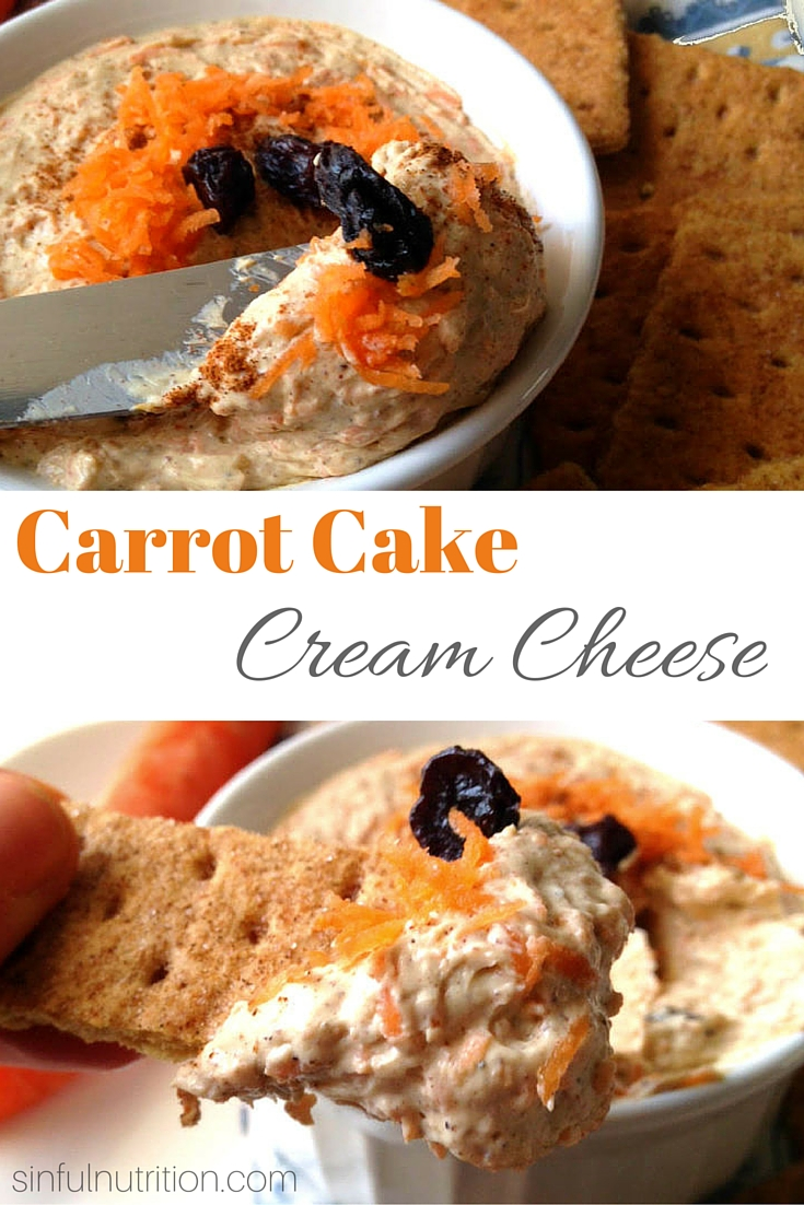 Carrot Cake Cream Cheese Recipe - One of my favorite desserts in spreadable form, and so much healthier than frosting!