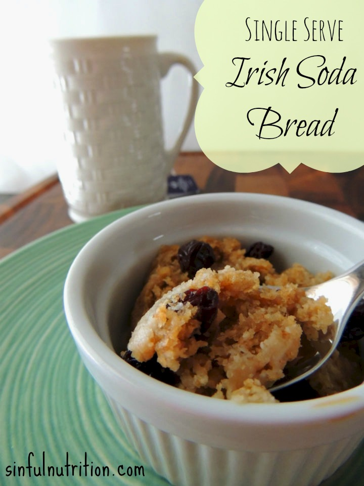 Gluten Free Irish Soda Bread Recipe For One -- A classic treat for St. Patrick's Day that can be made right in your microwave!