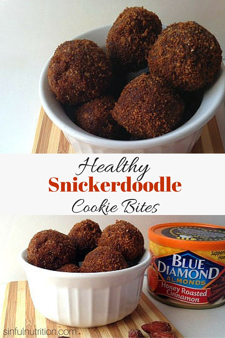 Healthy Snickerdoodle Cookie Bites Recipe -- The perfect portable snack that tastes like dessert! No refined sugars, oils, or flours. #glutenfree #ad.