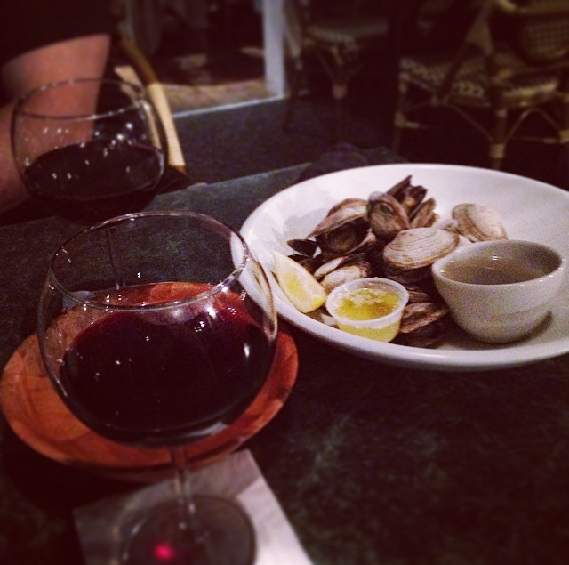 Clams and wine dinner