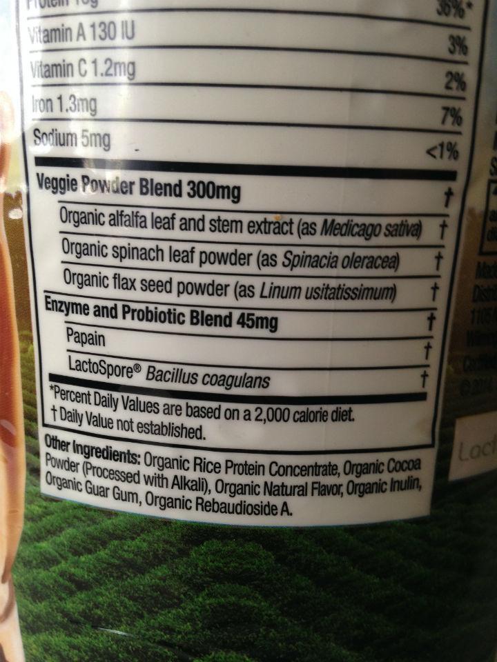 Nature Plant Protein Powder Ingredients
