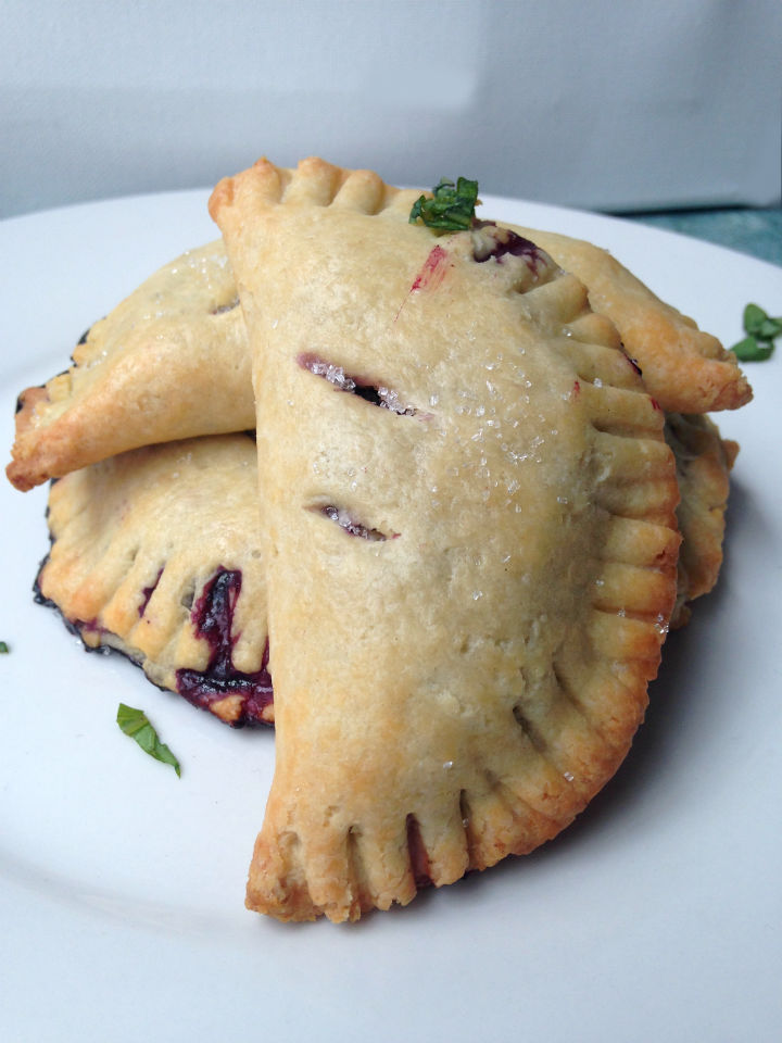 Blueberry Lemon Basil Hand Pies