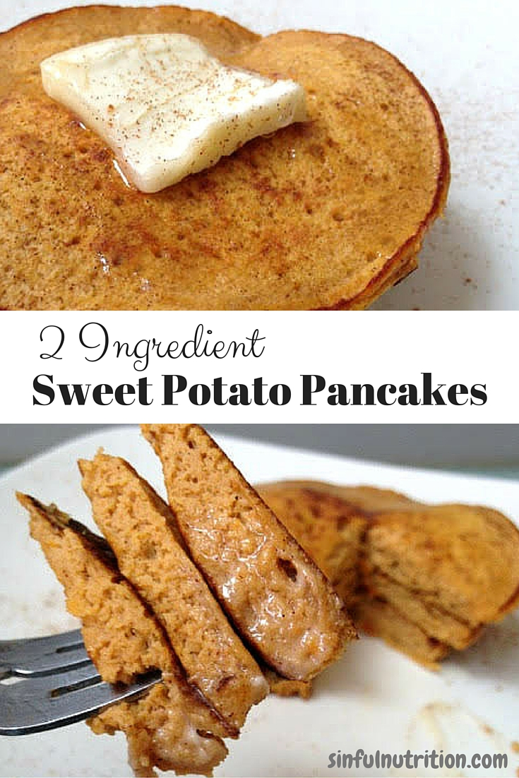 These sweet potato pancakes require just two simple ingredients ...