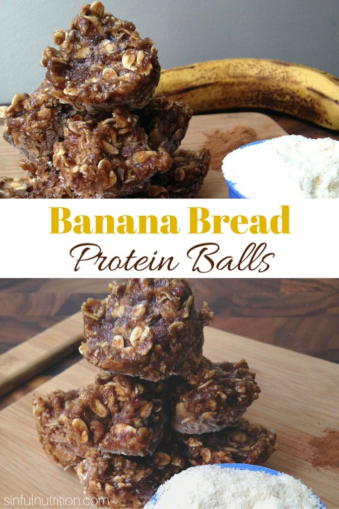 Banana Bread Protein Balls -- A gluten-free and high protein snack recipe that tastes just like dessert! No added flour, sugar, or oil! #ad