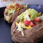 This recipe for cheeseburger loaded baked potatoes makes a quick and satisfying dinner for two any night of the week.
