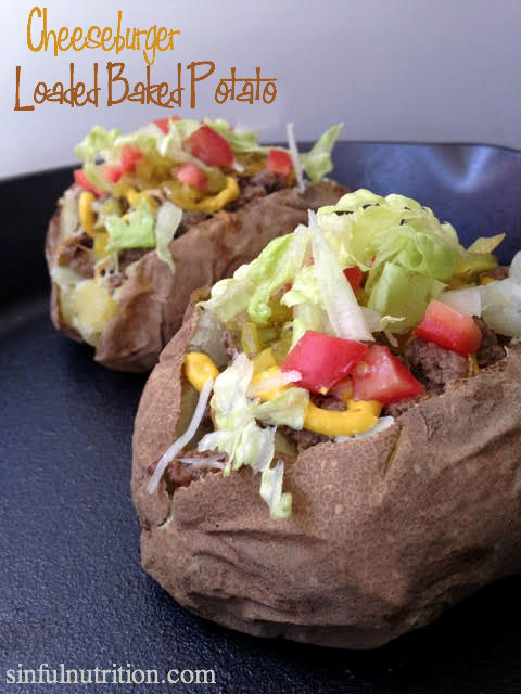 Cheeseburger Loaded Baked Potatoes