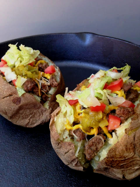 Cheeseburger Loaded Potato