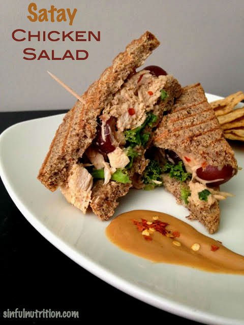satay chicken salad sandwich