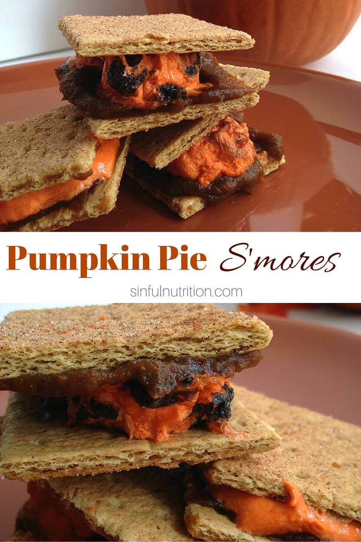 These pumpkin pie s'mores bring two of my favorite desserts all in one bite. The perfect treat for an autumn bonfire!