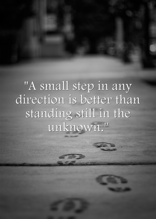Small-Step-Quote
