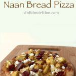 This naan bread pizza piled high with curried cauliflower & eggplant, and smothered in sun dried tomato hummus is a unique addition to your game day grub! #ad #tailgating