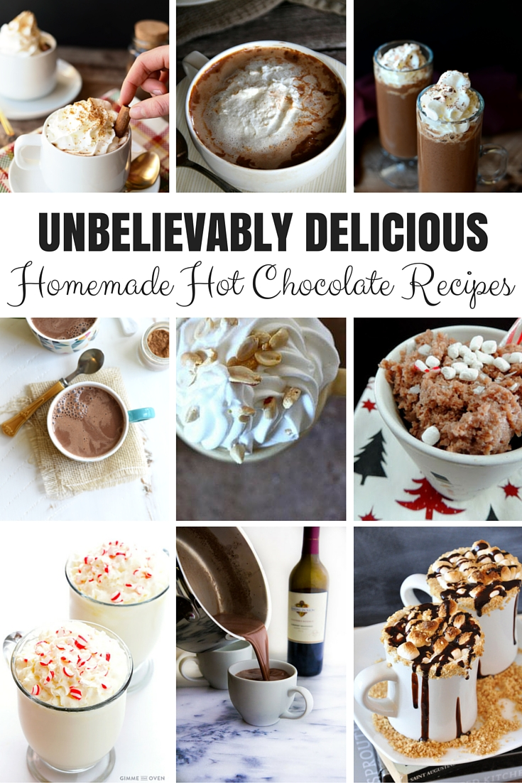 These 9 Unbelievably Delicious Homemade Hot Chocolate Recipes will keep you warm all winter long!