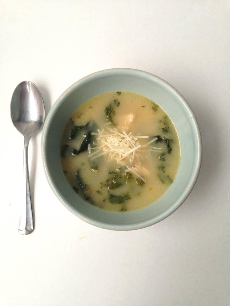 10 Minute Chicken Caesar Soup